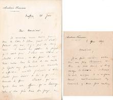 1898 - 2 L.A.S. Gaston BOISSIER (1823-1908) - ACADÉMIE FRANÇAISE - Statue De DAUDET à NÎMES - Documents Historiques