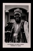 B9462 POLITICS NIGERIA - HIS EXCELENCY SIR ADESOJI ADEREMI GOVERNOR W. NIGERIA - Nigeria