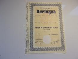 BERTAGNA (50 Nouveaux Francs) - Actions & Titres