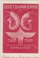 OOSTDUINKERKE /  FLYER / GARNAALFEEST 1963  / ZIE VERSO - Oostduinkerke