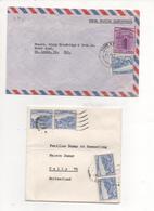 Pakistan 2 Letters To USA And Switzerland 1955 - Pakistan