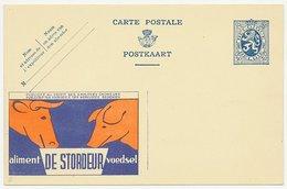 Publibel - Postal Stationery Belgium 1933 Cow - Pig - Food - Boerderij