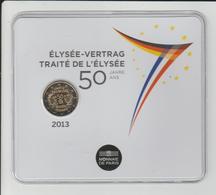 FRANCE - 2013 - Pièce De 2.€ - BU - Les 50 Ans Du TRAITE DE L'ELYSEE - Sous Blister Scellé - Voir Les 2 Scannes - France