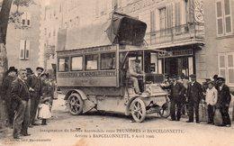 CPA De BARCELONNETTE - Arrivée De L'autobus Le 8 Avril 1906. - Barcelonnette