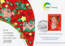 Luxembourg - 2018 - Christmas - Special Collection Postcard With First Day Postmark - Tarjetas Máxima