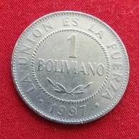 Bolivia 1 Boliviano 1997 KM# 205  Bolivie - Bolivie