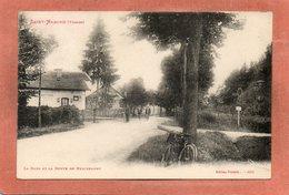 CPA - SAINT-NABORD (88) - Aspect De La Gare Et De La Route De Remiremont - Saint Nabord