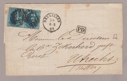 1862, Vouwbr., Medaillon 20 Ct In Paar, BUXELLES BRUSSEL N. UTRECHT (NEDERLAND) - 1858-1862 Médaillons (9/12)