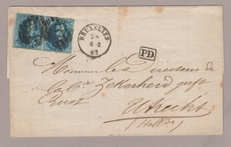1862, Vouwbr., Medaillon 20 Ct In Paar, BUXELLES BRUSSEL N. UTRECHT (NEDERLAND) - 1858-1862 Medaglioni (9/12)