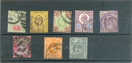 """Petit Lot """" Edward VII """" 8 Différents  Environ 100 € De Cote - Stamps"""