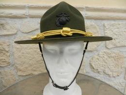 Chapeau USMC Marines - Sergent Instructeur Américain Taille 56/57 - Casques & Coiffures