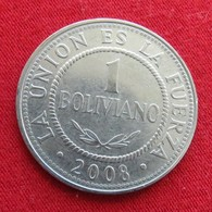 Bolivia 1 Boliviano 2008 KM# 205  Bolivie - Bolivie