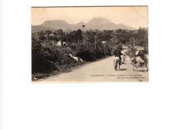 """GUADELOUPE LE VOLCAN """"LA SOUFRIERE """" VUE DE SAINT CLAUDE ,JOLI PLAN ANIME REF 58171 C - Guadeloupe"""