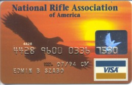 "USA NRAA ""Eagle""  Visa 1992 Year - Krediet Kaarten (vervaldatum Min. 10 Jaar)"