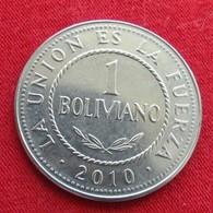 Bolivia 1 Boliviano 2010 KM# 205  Bolivie - Bolivie