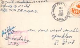 US Army Postal 1945 Mit Korrespondenz - Dokumente