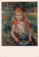 PIERRE-AUGUSTE RENOIR-YOUNG GIRL WITH FLOWERS - Pittura & Quadri