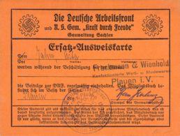 Deutsche Arbeitsfront Ersatz-Ausweiskarte - Dokumente