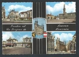 +++ CPA - Un Bonjour De LOUVAIN - Groeten Uit LEUVEN - Multivues - CPSM  // - Leuven