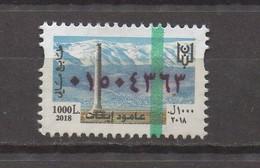 New Issue MNH Fiscal Stamp 2018 1000LP Lebanon Revenue, Liban Libanon - Lebanon