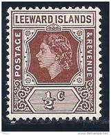 Leeward Islands, Scott # 133 MNH Queen Elizabeth, 1954 - Leeward  Islands