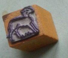 Dessin, Animal, Agneau, Mouton - Tampon Scolaire, Petit Cube - French Rubber Stamp, School, Lamb - Loisirs Créatifs
