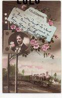 POSTE 3 : Télégramme , Train A Vapeur  ; édit. Zed 264 - Poste & Facteurs
