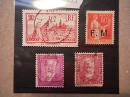 4 Timbres De L'année 1933 Oblitérés - Used Stamps