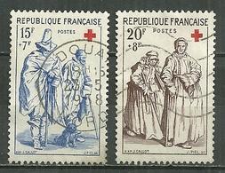 FRANCE Oblitéré 1140-41 Croix Rouge L'aveugle Et Le Mendiant Lea Mendiante Et La Borgnesse Jacques Callot - Gebraucht