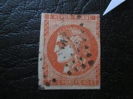 N°48 Type I Bordeaux Rouge Orange  1eme Etat OBL Filet Touché - 1870 Emissione Di Bordeaux