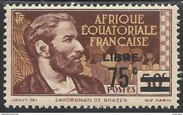 AFRIQUE EQUATORIALE FRANCAISE - AEF - A.E.F. - 1940 - YT 139** - A.E.F. (1936-1958)