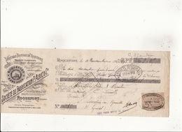 Veritable Fromage De Roquefort Société De Fabrication P.ALRIC & Cie 11 Nov 1922 Timbre 5c Roquefort Millau St Gaudens - Lettres De Change