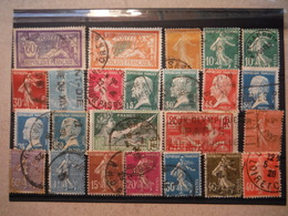 24 Timbres Des Années 1920 à 1924 - Oblitérés - France