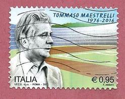 ITALIA REPUBBLICA USATO - 2016 - 40° Anniversario Della Morte Di Tommaso Maestrelli - € 0,95 - S. 3742 - 2011-...: Usati