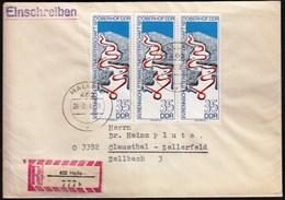 Germany DDR Halle 1973 / Sport / Oberhof World Championship / Bobsleigh Ski Skiing Skeleton Sleigh Luge / R Letter - Skiing