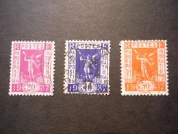 3 Timbres Paris Expo Internationale 1937 - Oblitérés - Used Stamps