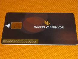 Switzerland - Saint Gallen Swiss Casino Chip Slot Card - Casino Cards
