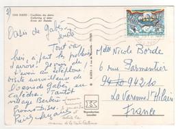 """Beau Timbre , Stamp  """" Journée Mondiale Des Télécommunications """"  Sur Cp , Carte , Postcard  Pour La France - Tunisie (1956-...)"""
