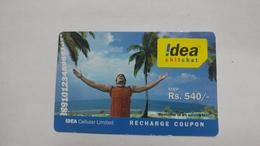 India-idea-full Talktime-card-(35f)-(rs.540)-(9794630944318932)-(new Delhi)-()-card Used+1 Card Prepiad Free - India