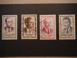 4 Timbres Héros De La Résistance - Debeaumarché - Masse - Moulin - Renouvin - Oblitérés - Used Stamps