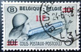 1948 Belgique Yt CP299 - Mi PP25 Parcel Post: Archer With Red Surcharge . Oblitération BRUXELLES - Chemins De Fer