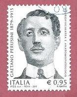 ITALIA REPUBBLICA USATO - 2015 - Centenario Della Morte Di Gaetano Perusini - € 0,95 - S. 3654 - 6. 1946-.. Republic