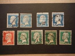 9 Timbres Pasteur 1923 à 1926 - Oblitérés - France