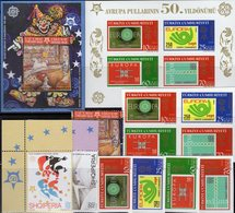 Topic 2006 Türkei 3491/4,VB,Bl.58,Albanien 3045/7+Block 157 ** 77€ Hb M/s Stamps On Stamp Blocs/sheet 50 Years CEPT - Emissions Communes