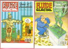 """2 Cartes Postales """"Cart'Com"""" - Série """"Divers Presse, Médias,..."""" - Fluide Glacial - Umour Et Bandessinées (ill Tronchet) - Bandes Dessinées"""