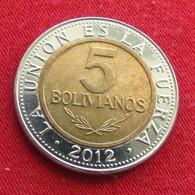 Bolivia 5 Bolivianos 2012  Bolivie - Bolivie