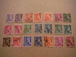 21 Timbres Mercure Années 1930 - Oblitérés - 2 Perforés LB - Used Stamps