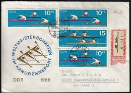 Germany DDR Halle 1966 / Sport / Canoe, Canoeing World Championship Berlin, Kanurennsport / R Letter - Canoë
