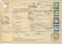 (Z08) - ALLEMAGNE - MI N° 362 X2 +361+360+ 351 - PAKETKARTE BREMEN MAHNDORF => BELGIEN 1964 - Covers & Documents