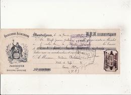 BRASSERIE  ALSACIENNE  FABRIQUE DE BOISSONS GAZEUSES  Montréjeau 14 Janv 1908 Timbre 5c  Cachet Victot IEHL  Montrejeau - Lettres De Change